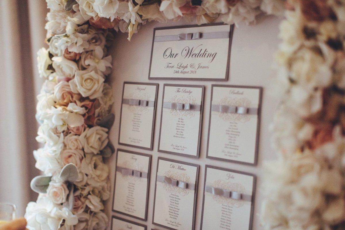 Floral bespoke tableplans