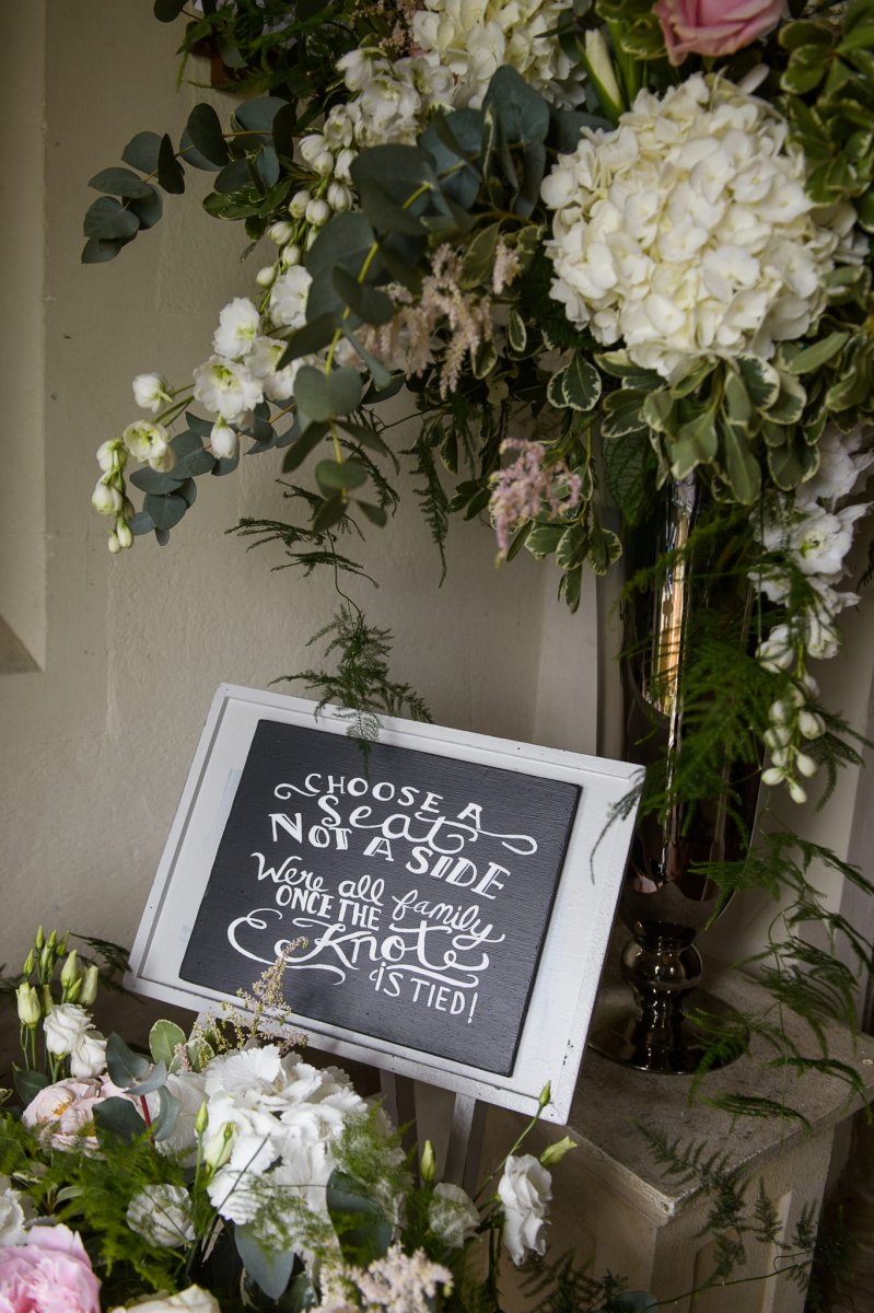 Bespoke wedding signs