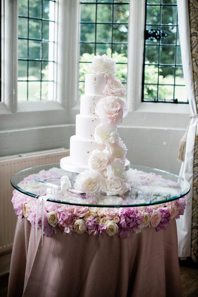 Wedding Cake Flower Decor