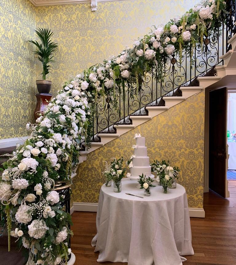 Floral Staircase Garland