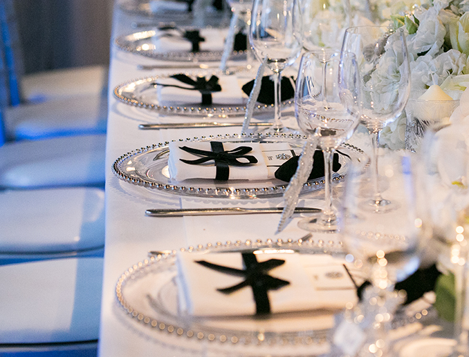 Dinner party table styling