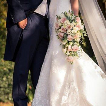 Bridal teardrop shower bouquet