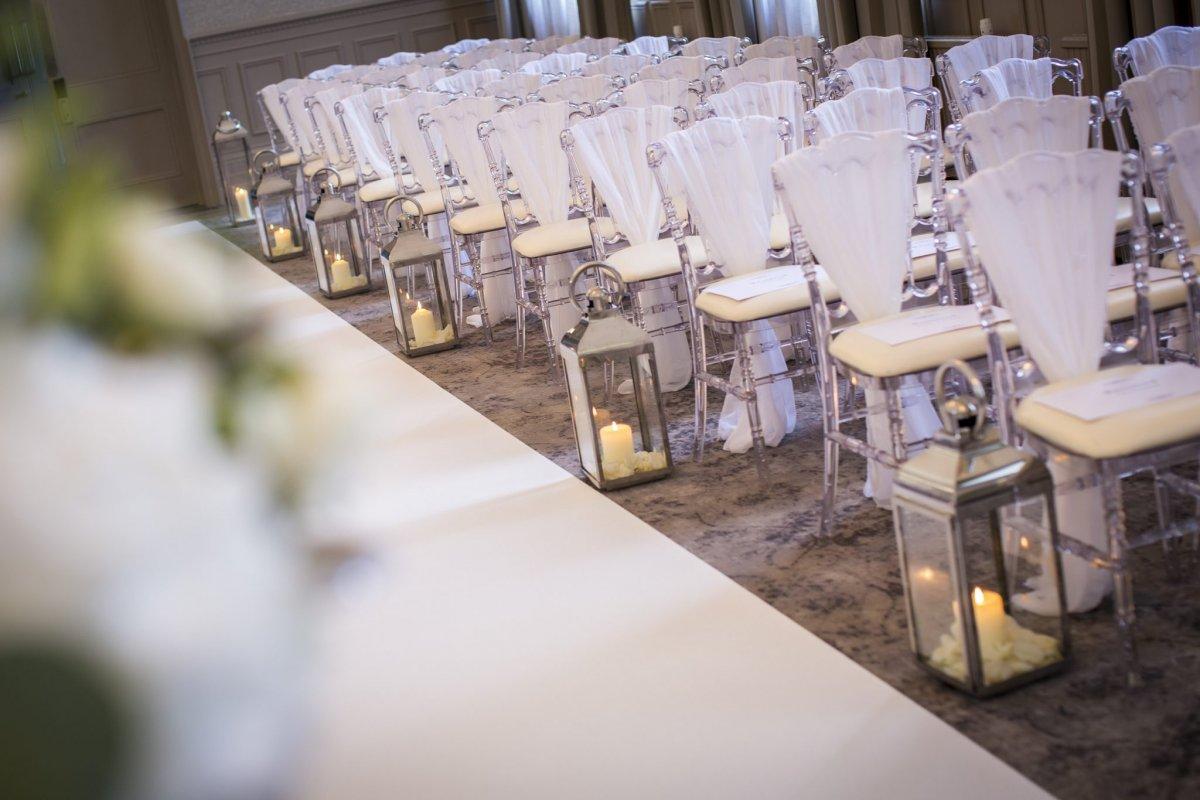 Wedding aisle decor